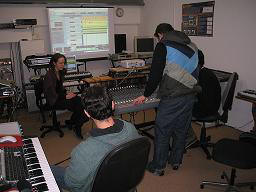 sound engineering & music production class at The Recording Workshop sound engineering school